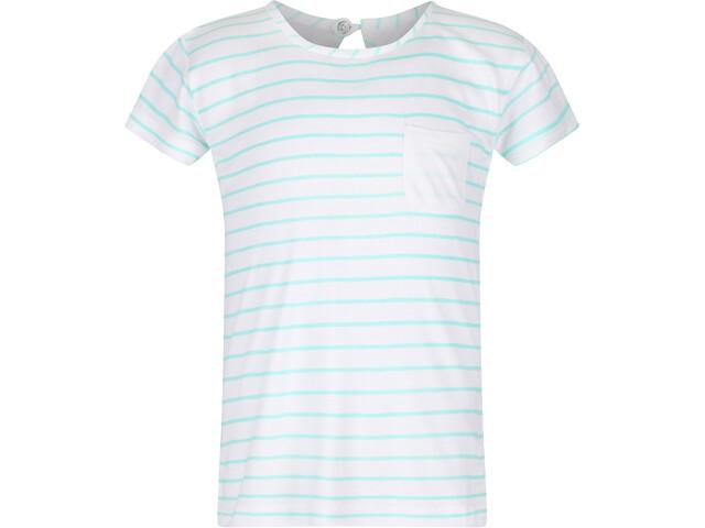 Regatta Charabee T-Shirt Kids white/aruba blue stripe